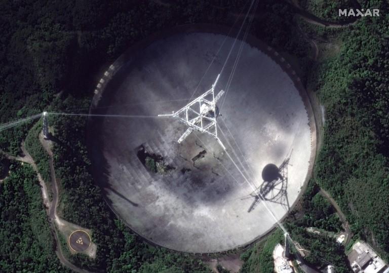El telescopio de Arecibo en Puerto Rico