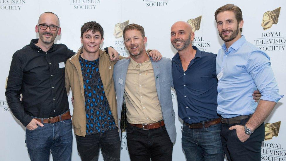 Left-right: Duncan Craig, Aedan Duckworth, Steve Walters, Nathan Sussex and Adam Woodward