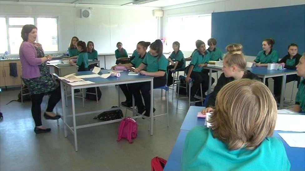 Pupils at Ysgol Bro Edern, in the north of the city