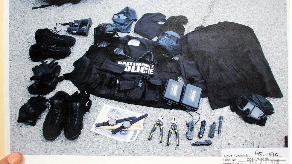 Contents and duffel bag contents
