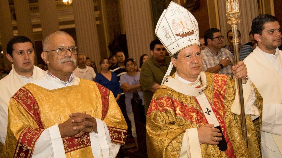 El arzobispo de San José, José Quirós