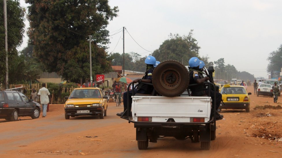 Burundian soldiers in an armoured vehicle leave the airport in Bangui after arriving on December 15, 2013 to join the African Union (AU) and French efforts to restore security in the troubled nation.