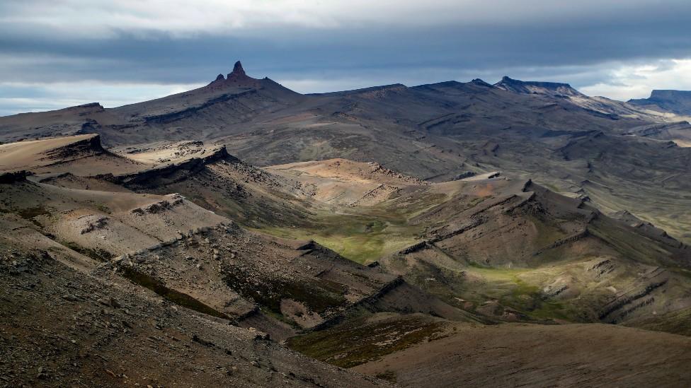 Cerro Guido, en el valle del río de las Chinas, en la provincia chilena de Última Esperanza