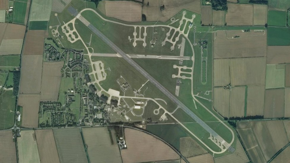 Aerial view of RAF Scampton