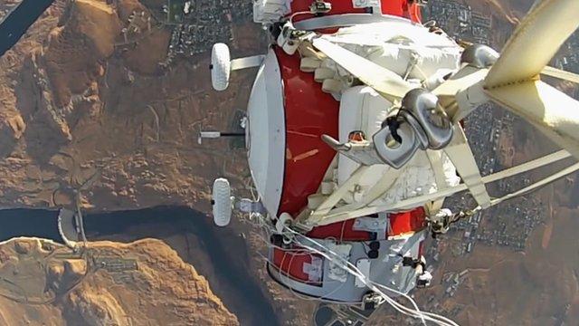 World View's passenger capsule on a test flight