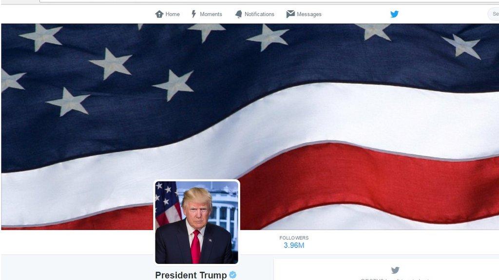 Trump S Potus Twitter Account Used Obama Crowd Image Bbc News