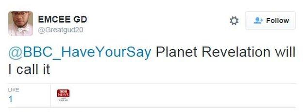 Planet Revelation will I call it
