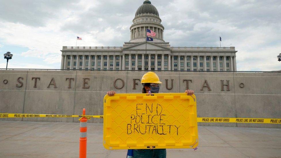 Una protesta en Utah contra la brutalidad policial