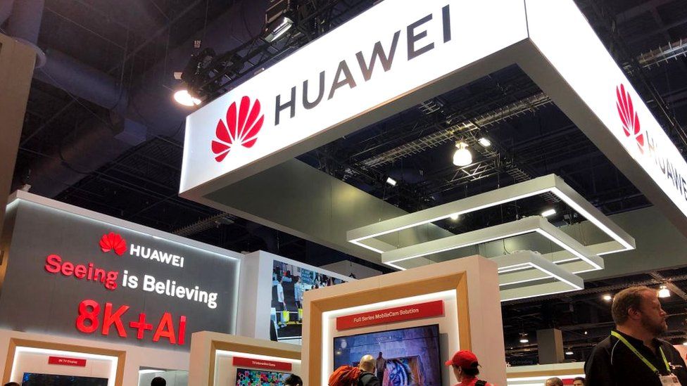 Huawei's stand at CES