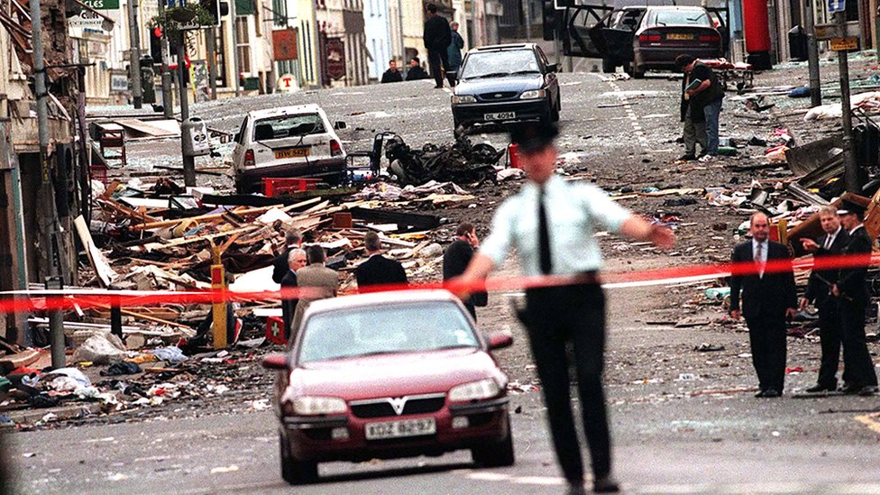 Scene of the Omagh bombing