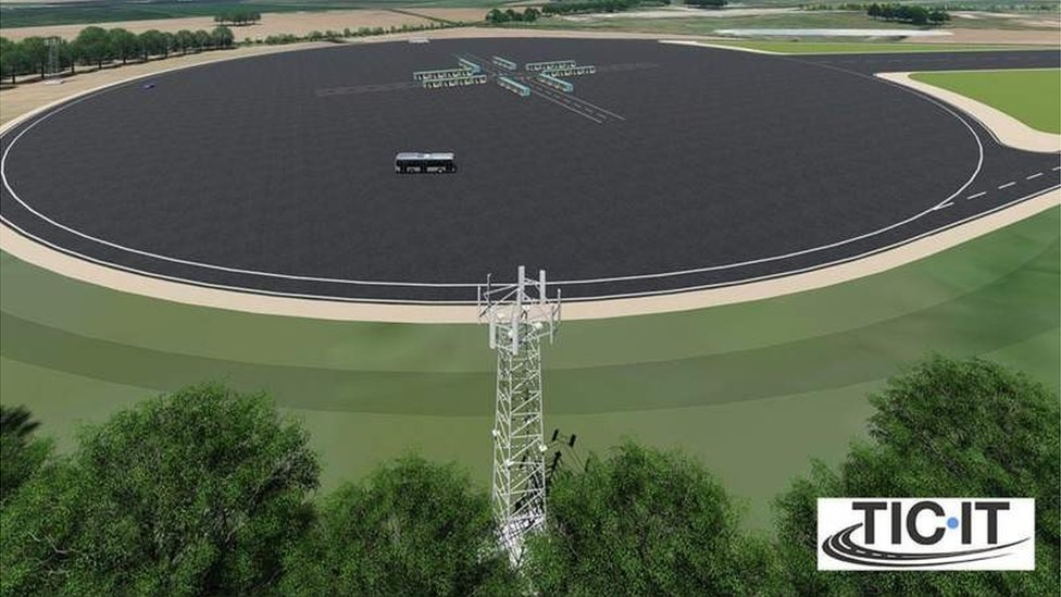 Artist impression of the new track