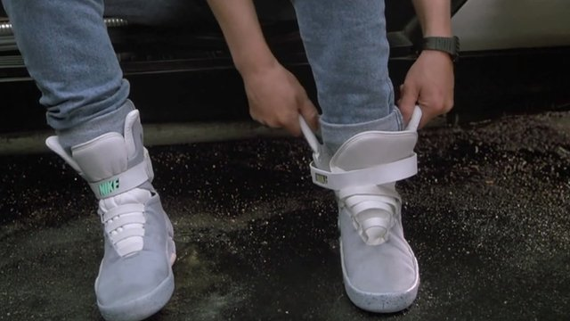 """Self-tying """"power laces"""" from Back to the Future II"""