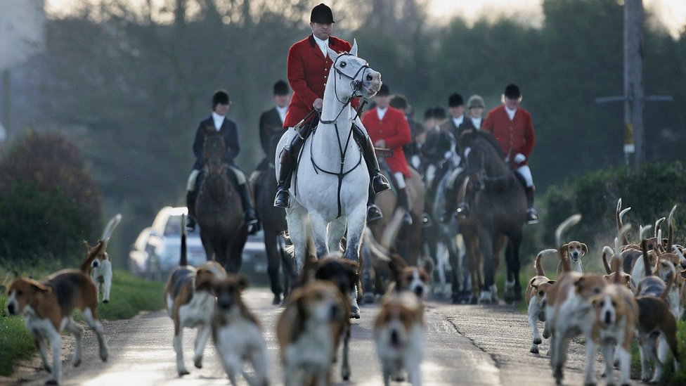 Archive picture from 2004 of Belvoir Hunt