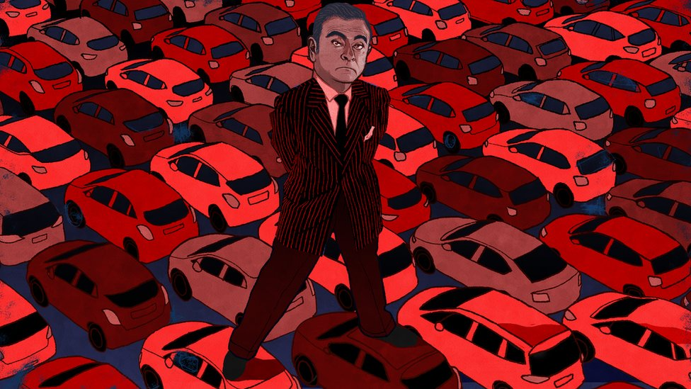 Ilustración de Carlos Ghosn