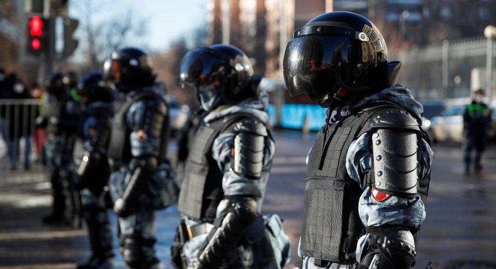 قوات شرطة روسية
