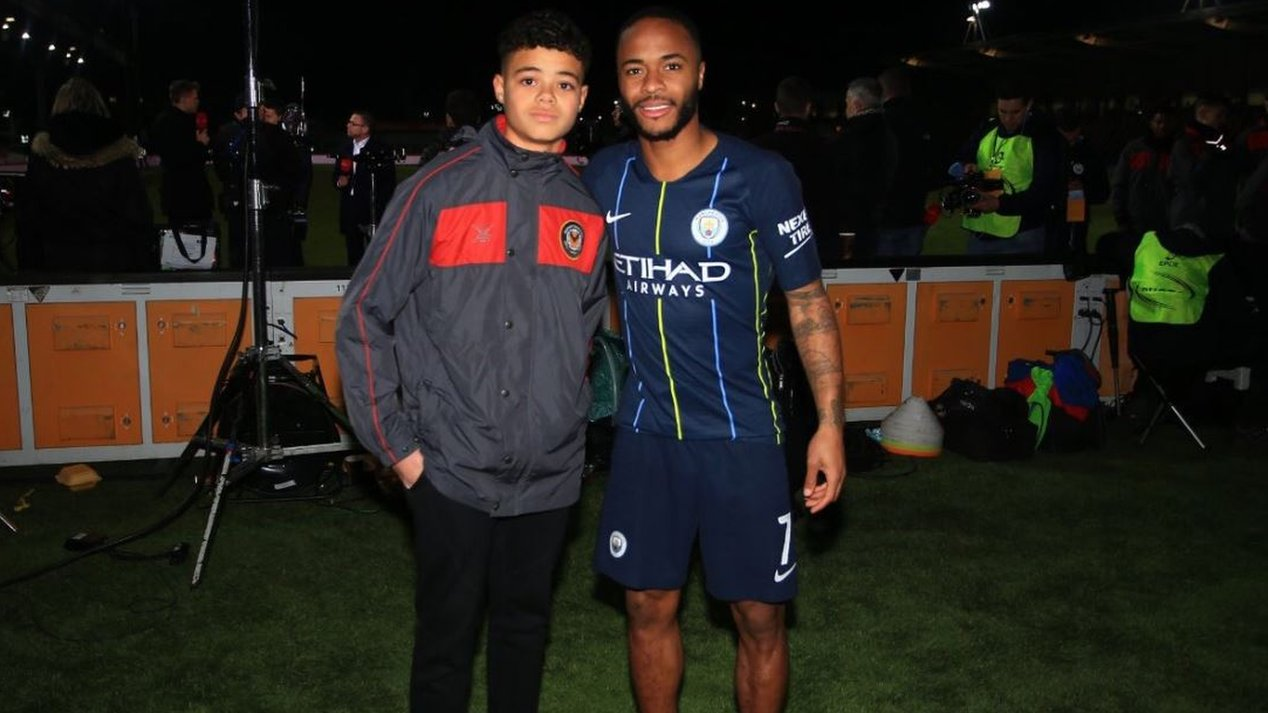 Raheem Sterling: Manchester City forward meets fan who was racially abused