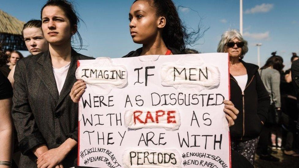 Marcha contra la violencia de género realizada en la ciudad de Durban el 7 de septiembre pasado.