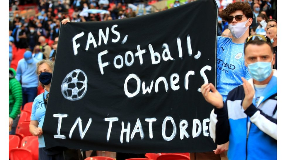 احتجت جماهير كرة القدم على مشروع دوري السوبر الأوروبي