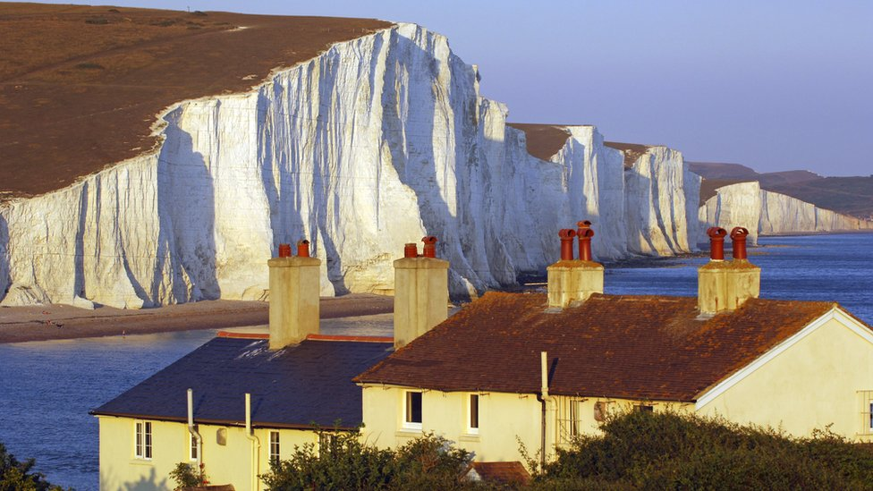 The cliffs of the Seven Sisters