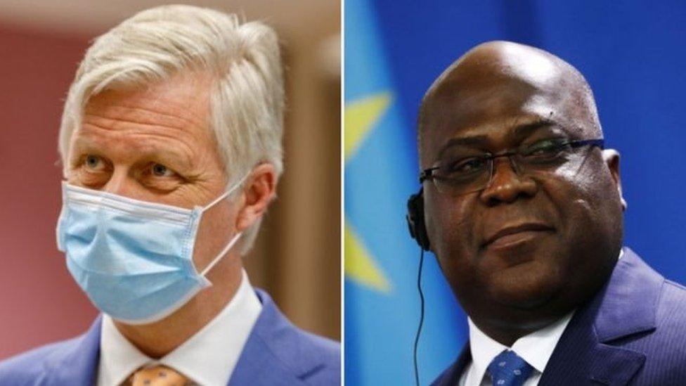 ملك بلجيكا ورئيس الكونغو الديمقراطية