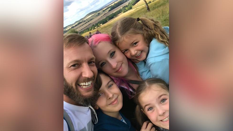 Rhia Presley, Jason Forsyth and their three children