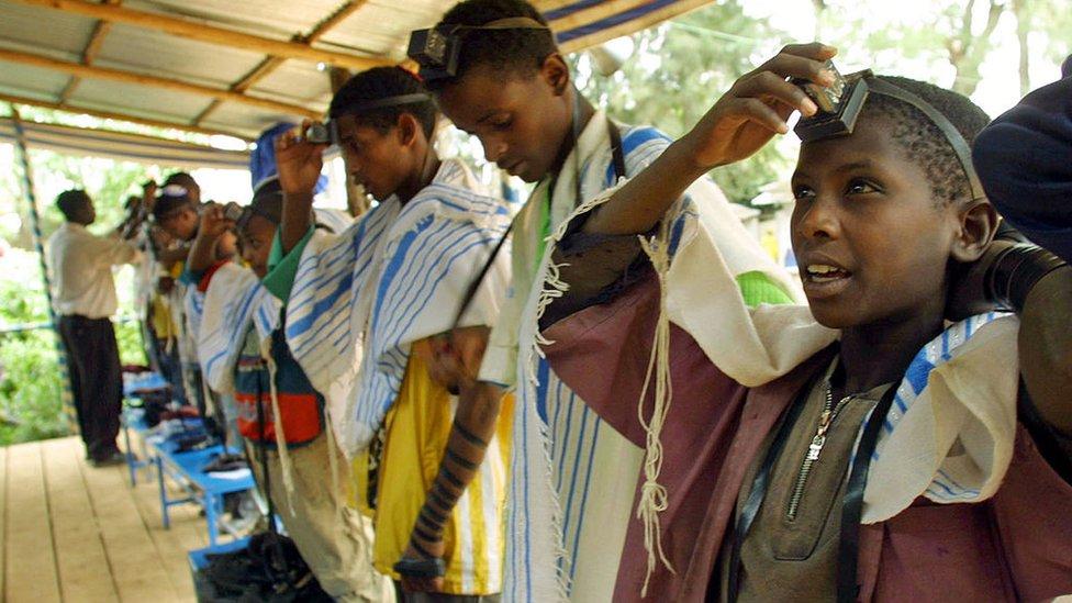 Judíos etíopes en Israel.