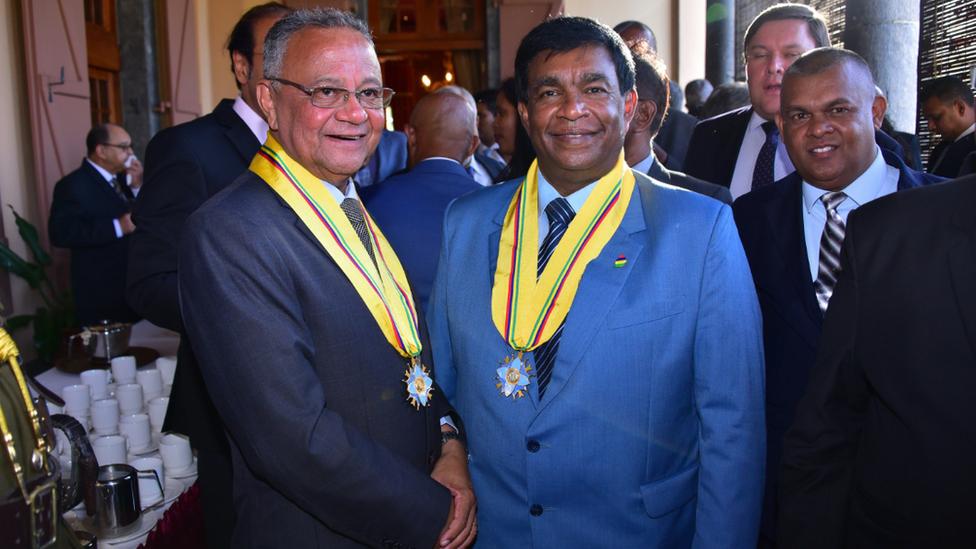 Mauritian President Prithvirajsing Roopun