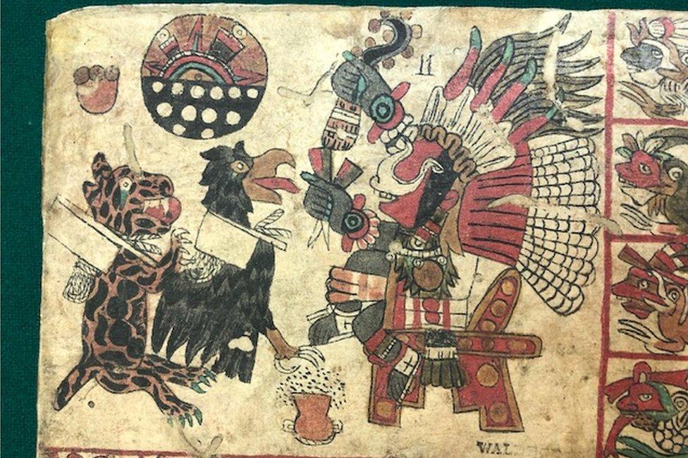 Facsímil del códice Tonalámatl de Aubin