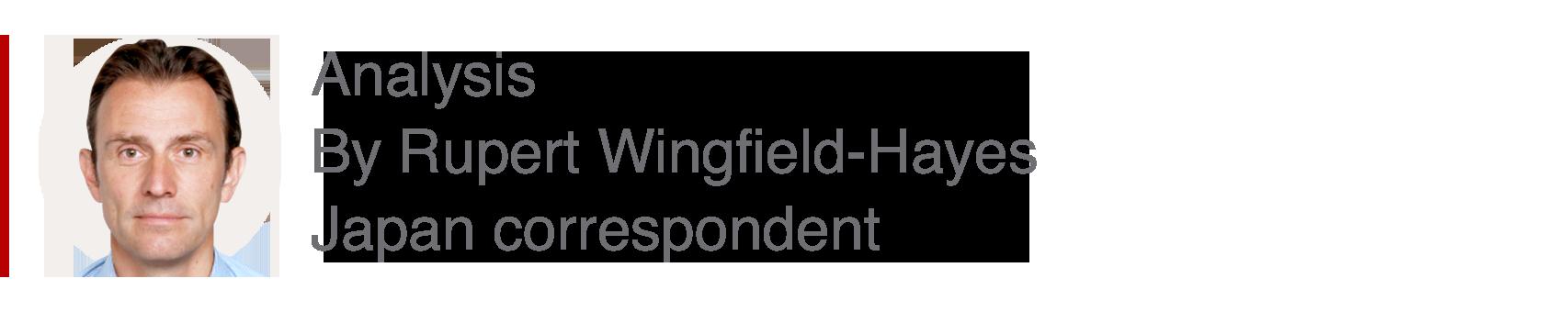 Analysis box by Rupert Wingfield-Hayes, Japan correspondent