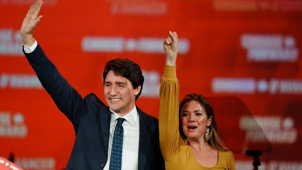 कनाडा चुनाव : सबसे ज़्यादा सीटें जीतीं लेकिन बहुमत से दूर ट्रूडो की पार्टी