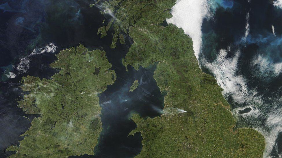 Smoke from the fire could be seen from space