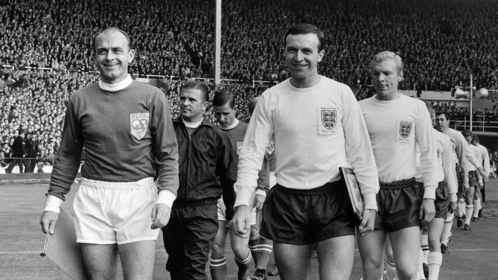 Jimmy Armfield captains England