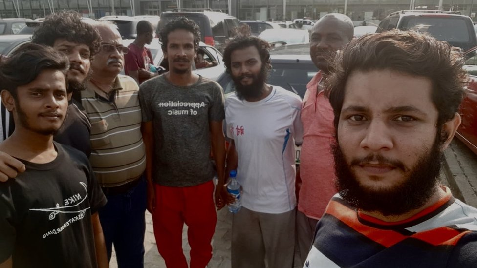 Marineros liberados en Nigeria