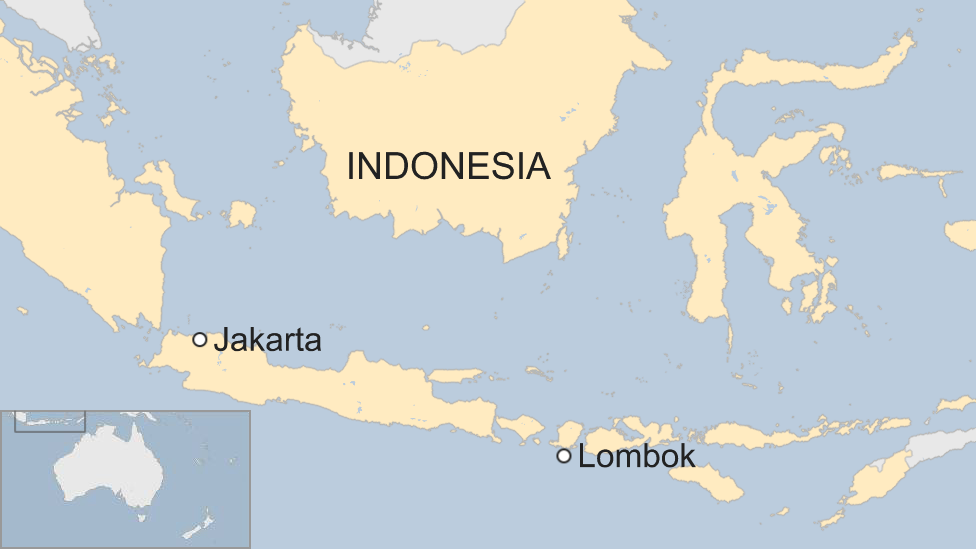 Map showing Lombok