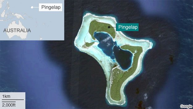 Map showing Pingelap
