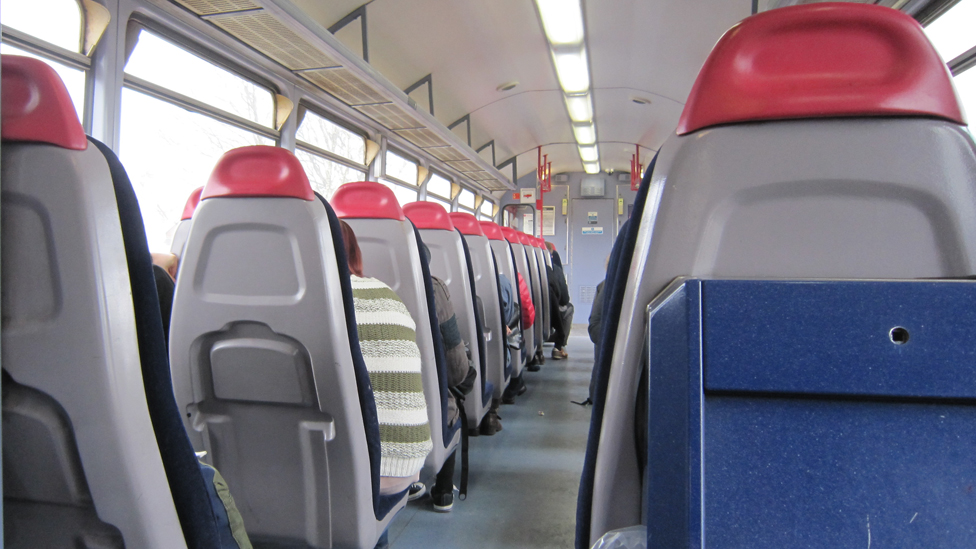 Seats on a Pacer train