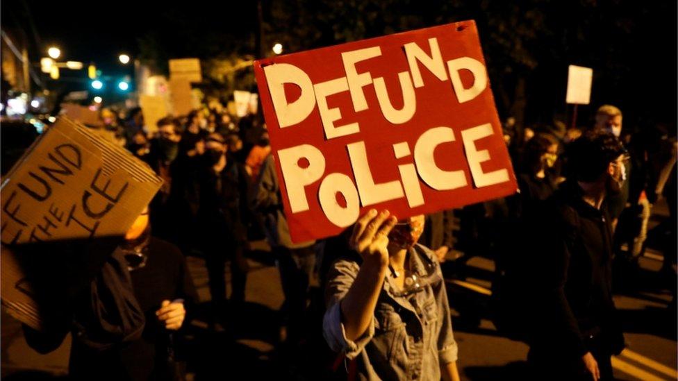 Protestas antipolicía en Rochester.