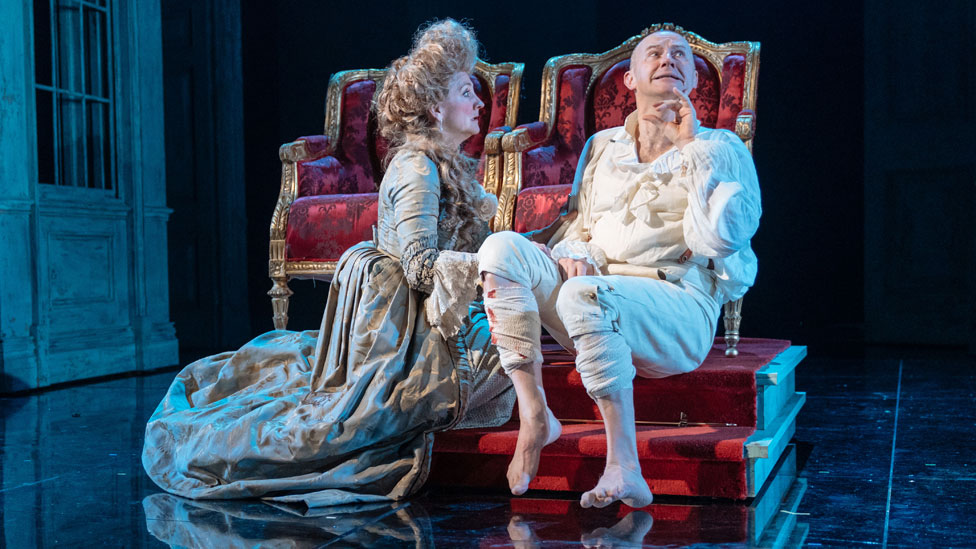 Mark Gatiss with Debra Gillett in The Madness of George III