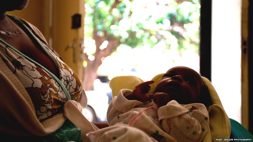 An HIV positive mother and baby