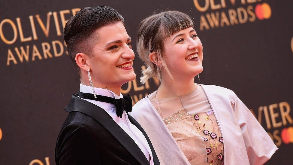 Toby and Lucy at the 2019 Olivier Awards