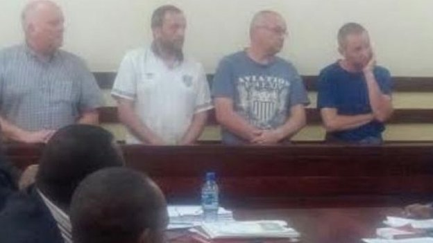 Accused plane spotters in court