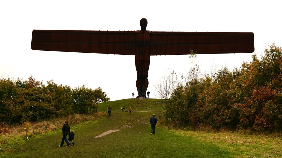 The Angel of the North in the North East