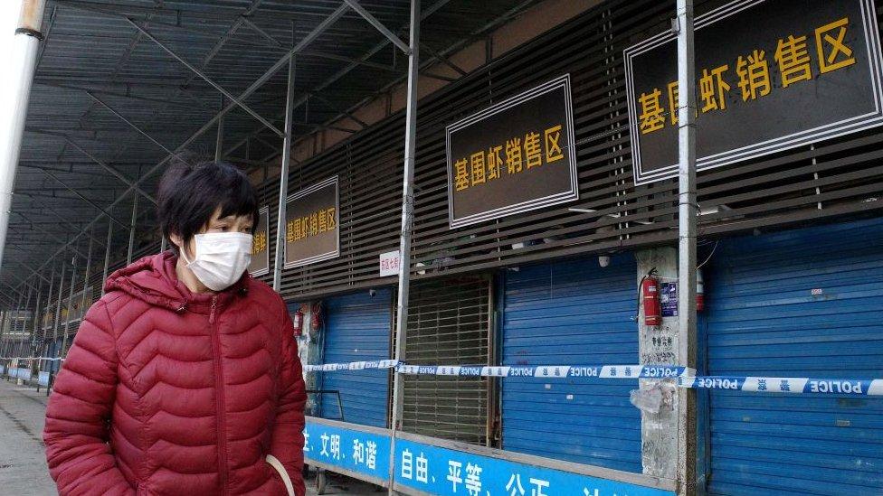 爆發疫情的湖北武漢海鮮市場已經關閉。