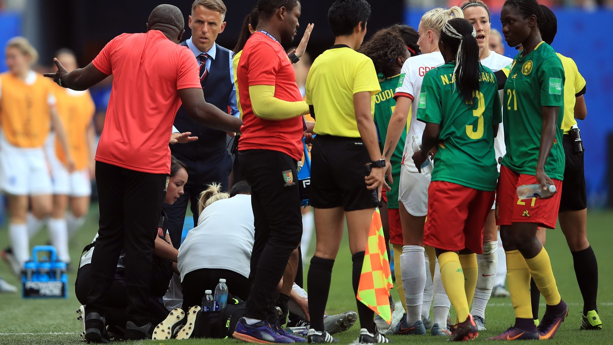 Women's World Cup: England boss Phil Neville 'ashamed' by Cameroon behaviour