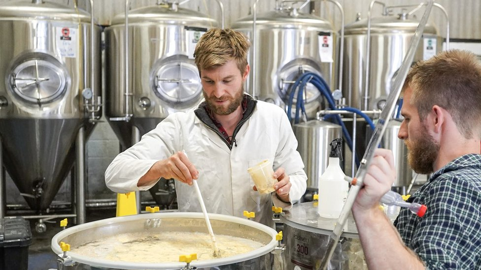 Kit and Matt run a meadery in Chepstow in south Wales