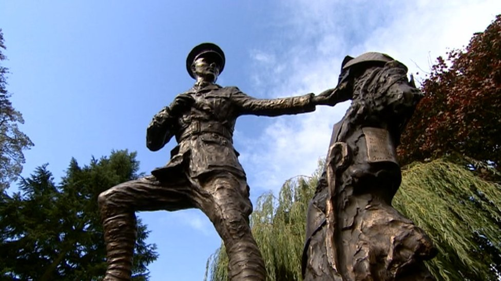 Wilfred Owen statue unveiled in Oswestry