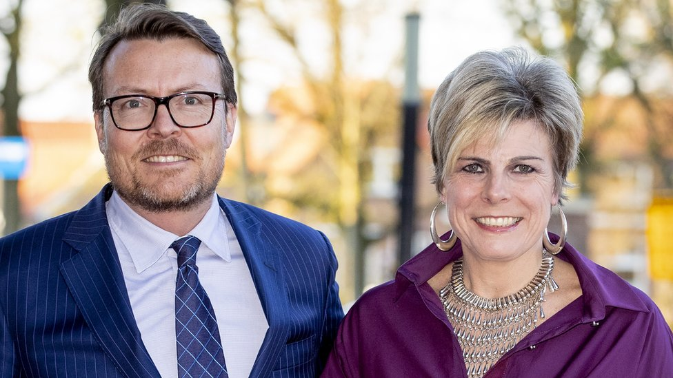 Prince Constantijn and Princess Laurentien of The Netherlands arrive at Theater De Flint for the Kingsday Concert on 15 April, 2019 in Amersfoort, Netherlands.