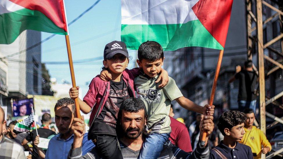Protesta de palestinos