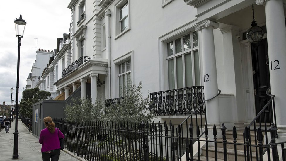 The couple's home in west London, a short walk from Harrods