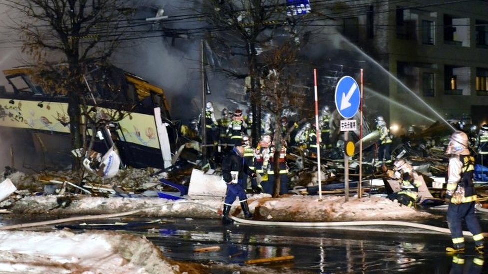 Japan explosion: Dozens injured in Sapporo restaurant blast